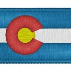 Colorado Flag Iron-on Patch