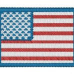 Iron-on USA Flag Patch